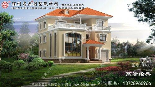 上城区农村欧式风格别墅设计图纸
