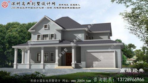 大通区两层别墅外观建筑设计图