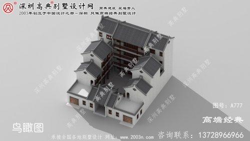 屯溪区中式别墅四层别墅设计图