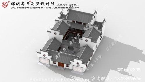 上栗县农村新中式别墅外观