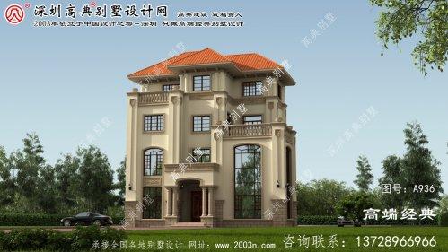 蒙城县四层别墅设计图纸