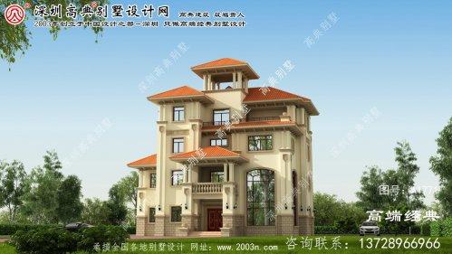岢岚县三层半别墅设计图纸及效果图大全