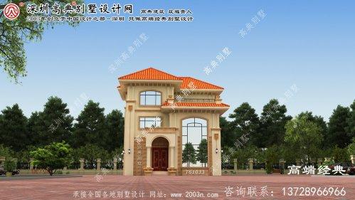 卓资县二层小户型别墅设计图