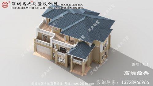 大洼县独栋2层复式别墅设计图