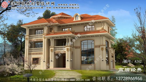 延寿县三层别墅建筑设计图
