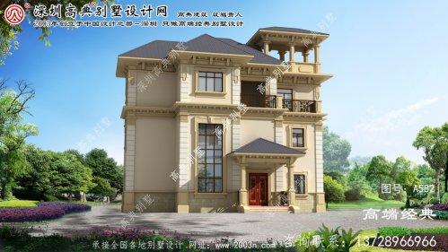 五大连池市乡村木别墅设计图