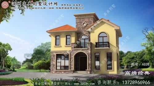 许昌县农村小别墅设计图三层