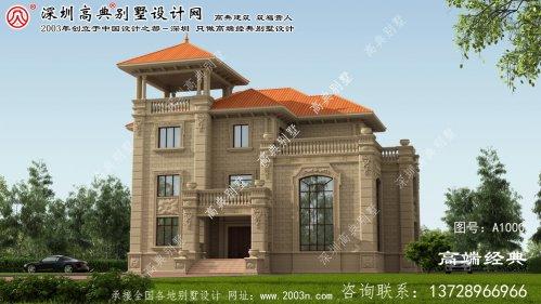 洪湖市3层别墅设计图