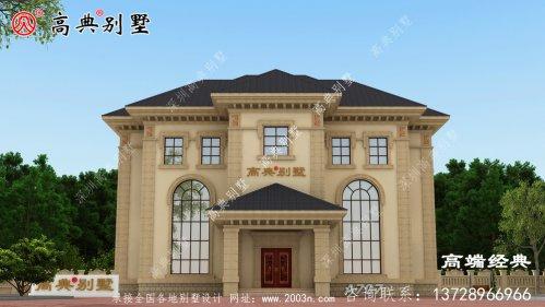三层别墅平面图