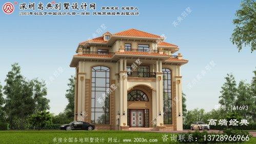 鹤峰县经典的四层欧式风格石材别墅