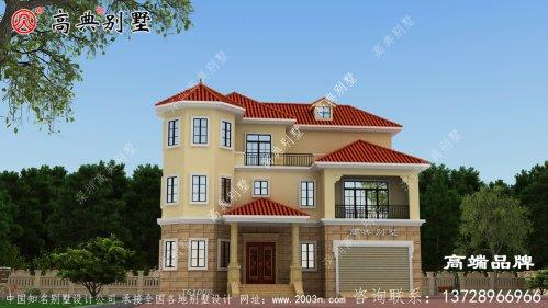 建筑别墅外观效果图