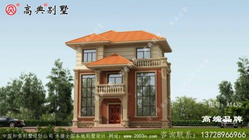 农村建三层房子设计图建筑端庄典雅,浓厚的简