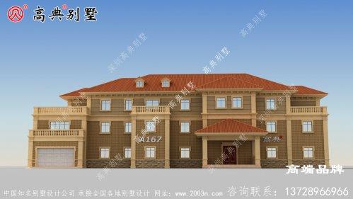 农村三层房屋建筑设计图简约大气