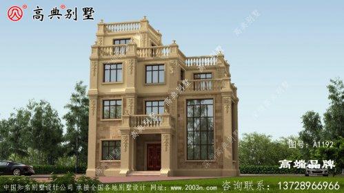 平顶别墅设计整体气派上档次。