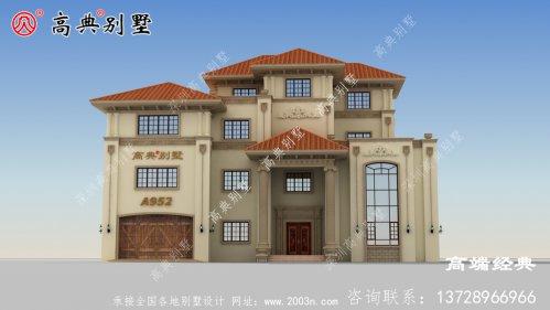 胶南市四层农村简单大气四层楼房图,是近五年最好的投资