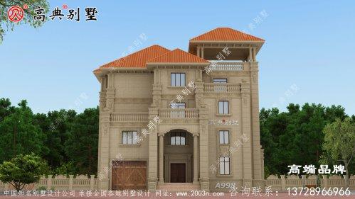 别墅建筑设计图带凉亭设计高雅尊贵
