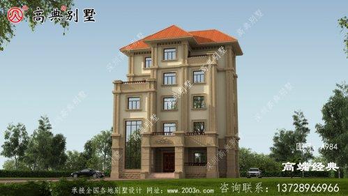 凹凸设计显得别墅更加立体形象