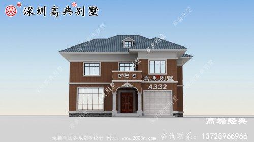 二层小面宽新农村住宅户型图,造价低还实用