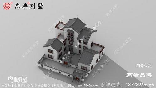 多卧室设计满足大部分农村家庭居住。