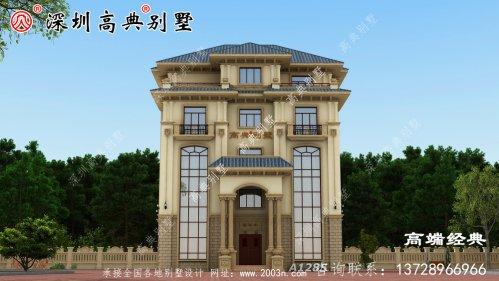 五层欧式别墅设计图,时尚洋气又实用。