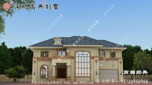欧式大别墅设计图,漂亮极了,花45万建造,看了