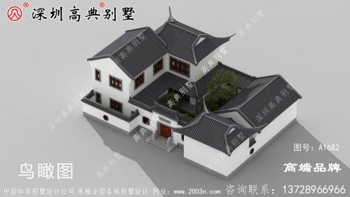 农村自建房别墅设计图,具有现代感