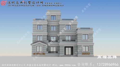 有阳台四层楼房设计图,建一栋在村里倍有面,