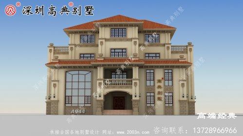 大户型四层欧式别墅设计图,回老家建一栋,惊
