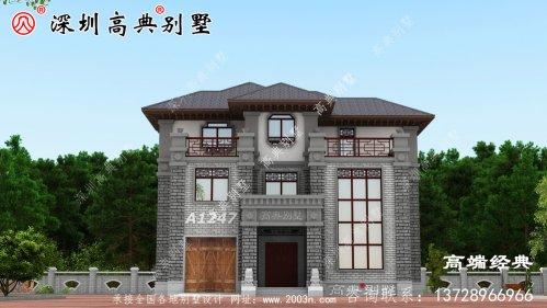 乡下三层最简单的小楼,大户型设计图,太动心