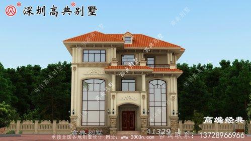 乡村建筑三层图片,户型简洁美观,适合全家居