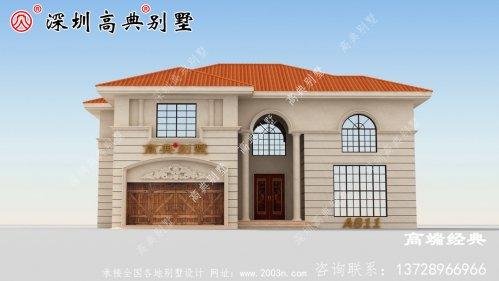 农村最新二层简单大气别墅图片