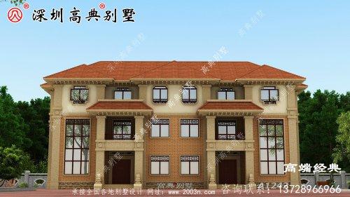 三层楼的设计图农村简单大气,家庭人 多,可以