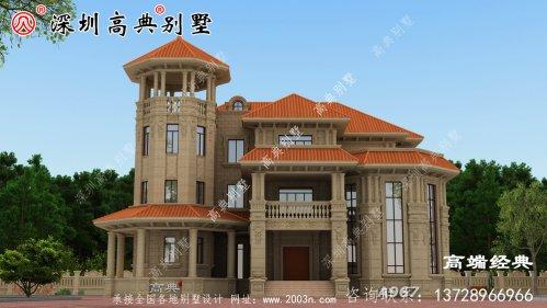 新农村三层楼的照片,一般不太高,三层别墅很常见