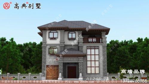 农村中式三层别墅,父母养老正合适