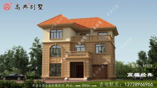 三层小别墅,外观明亮,给人以舒适温馨的感觉。