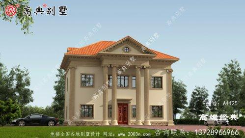 两层农村别墅,凹凸有致,气派豪华。