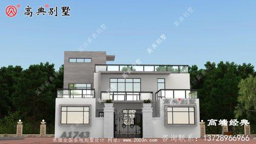 农村盖房拒绝千篇一律,一个细节建村里最大气的别墅