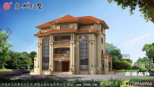 农村三层半自建别墅设计图纸,户型大气房间多